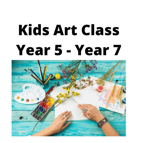 Kids Creative Art Group - Weekly - Wednesday 4.00 - 5.00 - Term 3 Year 5 - Year 7