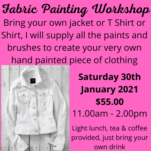 Fabric Painting Workshop - $55.00