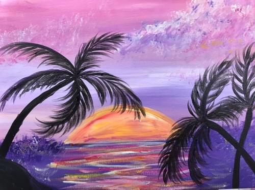 Cocktails & Sunsets - Adult Paint Night - Saturday 14th November 7.00 till 9.30pm