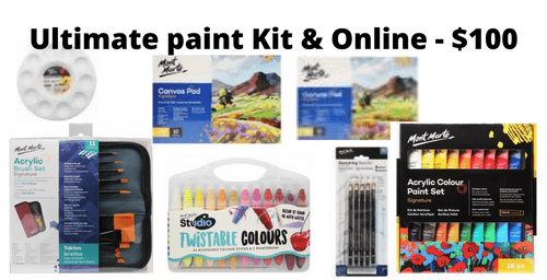 Ultimate Paint Kit and Online - $100 - Pre Order for January 2021 - use your 2020 Voucher