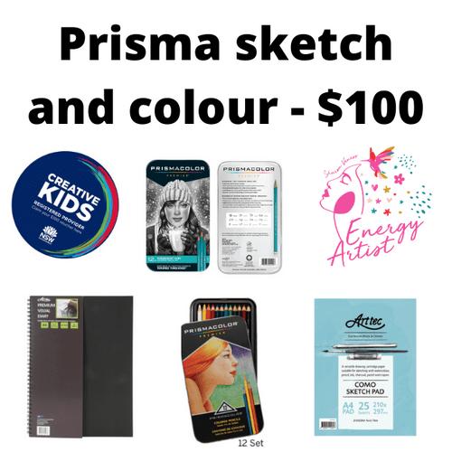 Prisma Sketch and Colour kit - $100