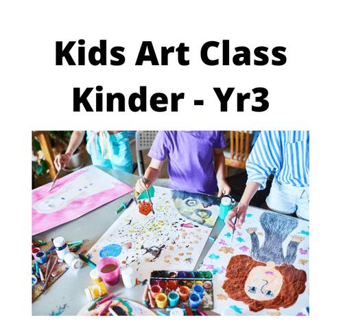 Kids Creative Art Group - Weekly - Monday - 4.00 - 5.00 - Term 1 - Kinder - Year 3