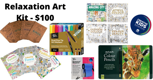 Relaxation Art Kit - $100 - This kit is available from 1st February 1