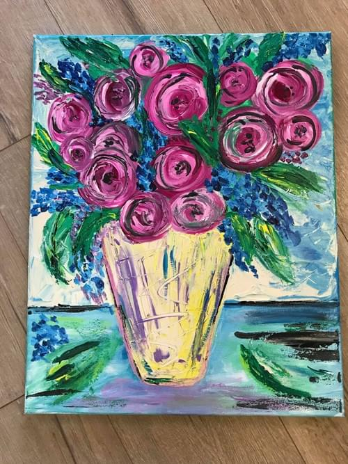 Fun Flower Painting - At home kit