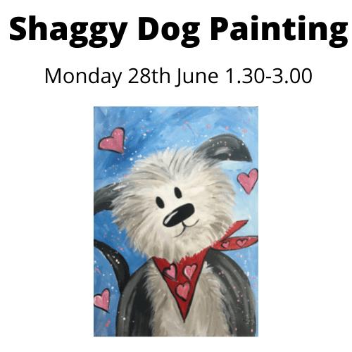 Shaggy Dog Paint workshop - Monday 28th June 2021 - 1.30 - 3.00