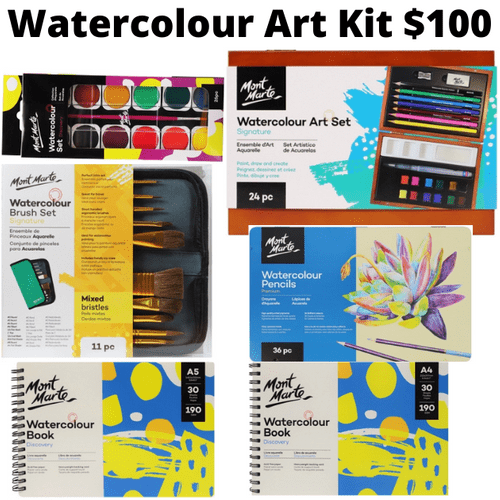 Watercolour Art Kit - Pre Order for January 2021 - use your 2020 Voucher