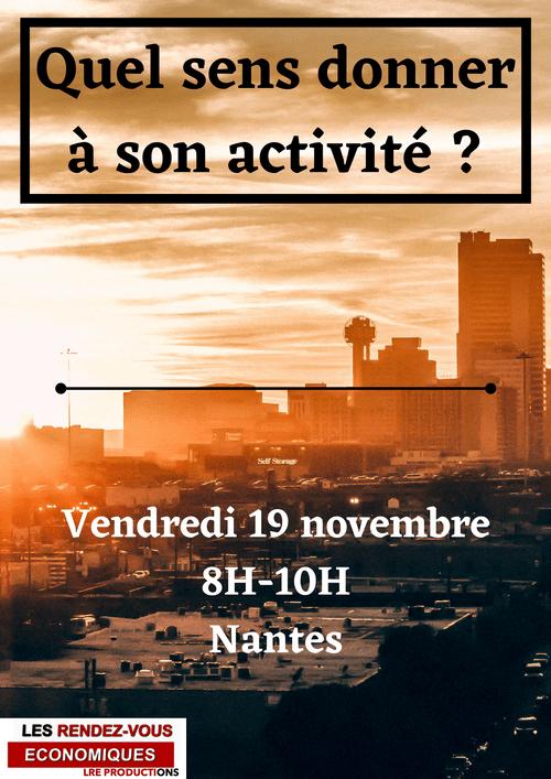 Vendredi 19 novembre - Nantes- 8H/10H