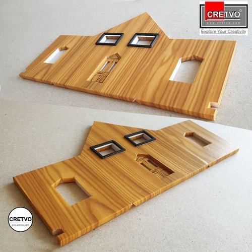Klæbeplader i træ, A4 210x297 mm, 100g (dobbeltsidet klæbemiddel) 4 ark