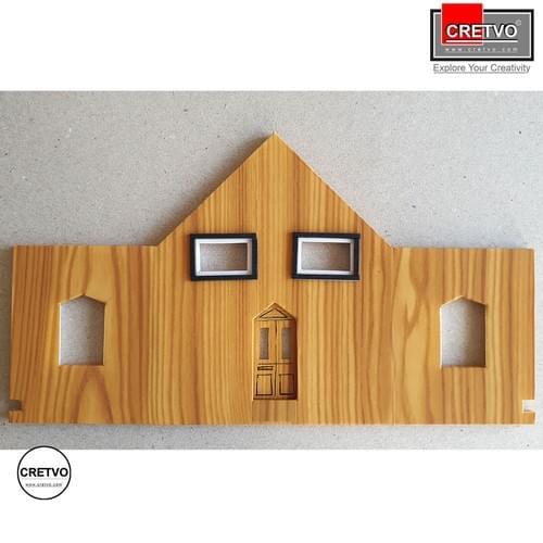 Wood textured adhesive sheets, A4 210x297 mm, 100g, 4 sheets