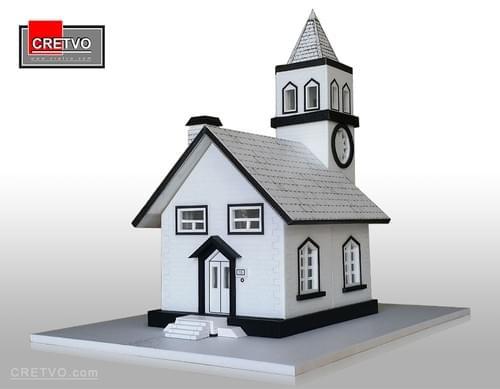 LED 3D Puslespil Hus [hvid] (SIMPLE)