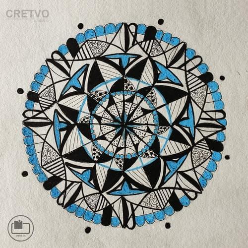 Kort | Mandala Blåt  2020