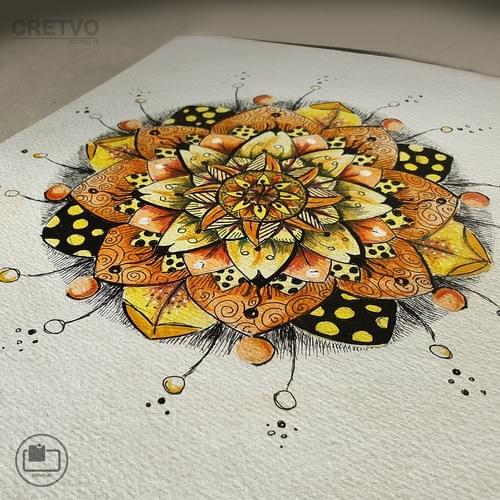Cards | Mandala Orange 2020 (Sara's collection)