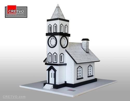 LED 3D Puzzle House [white] (SIMPLE)