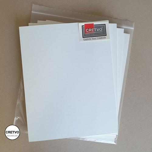 Standard Foam Board, 210x260 mm, 5mm thick, white. 4 pieces