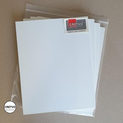 Standard Skumbræt, 210x250 mm, 5 mm tyk, hvid. 4 stykker