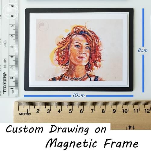 Custom Drawing (magnetic frame)