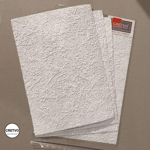 Wall texture deep, A4 210x297 mm, 160g, white color, 4 sheets