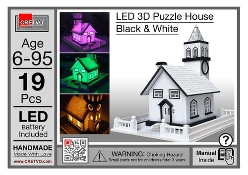 LED 3D Puzzle House [white]