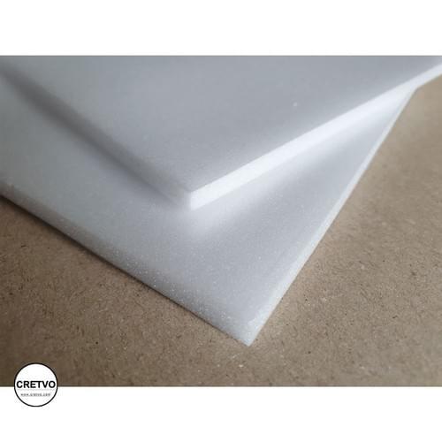 Skumplade, 205x250 mm, 5 mm tyk, hvid. 2 stykker