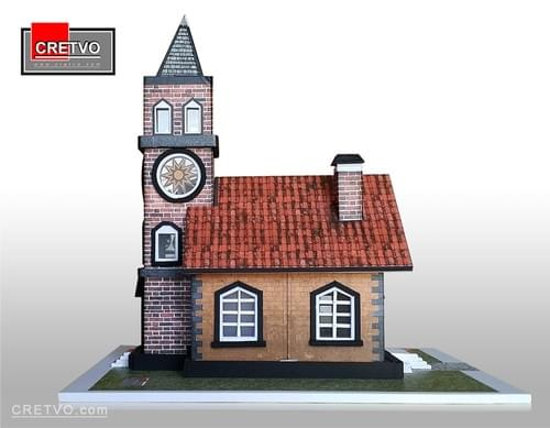 LED 3D Puslespil Hus (SIMPLE)