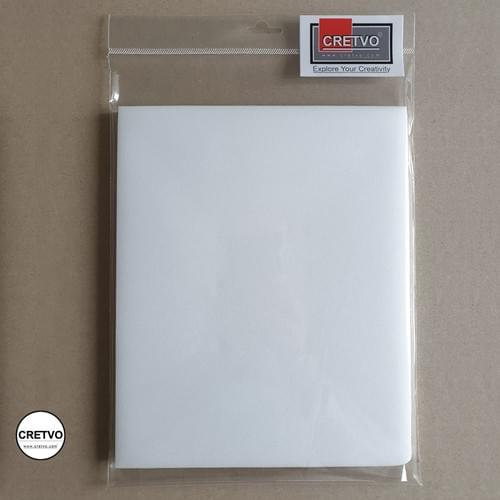 Foam Sheet, 205x250 mm, 5mm thick, white. 2 pieces