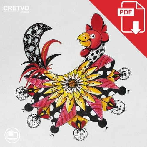 Kort | Mandala Rooster 2020