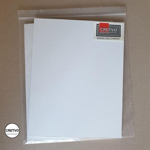 Standard Skumbræt, 210x250 mm, 5 mm tyk, hvid. 2 stykker