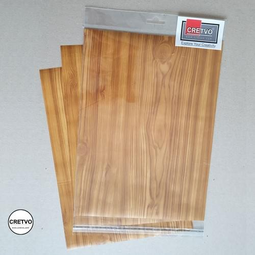 Wood textured adhesive sheets, A4 210x297 mm, 100g, 4 sheets