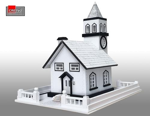 LED 3D Puzzle House [white]