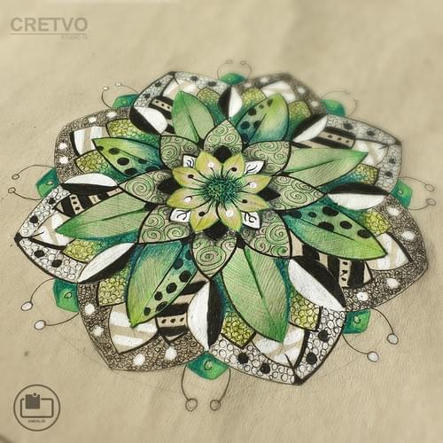 Kort | Mandala grøn 2020