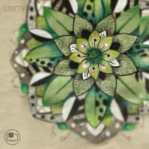Cards | Mandala Green 2020 (Sara's collection)