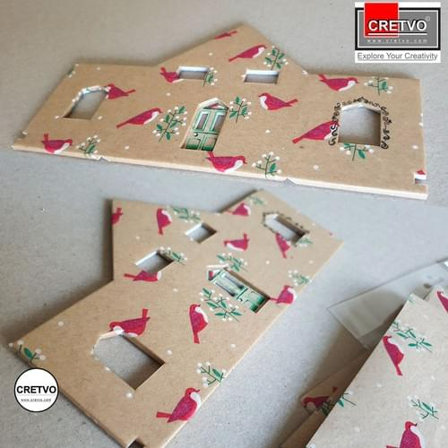 Patterned paper, A4 210x297 mm, 100g, small bird. 4 sheets