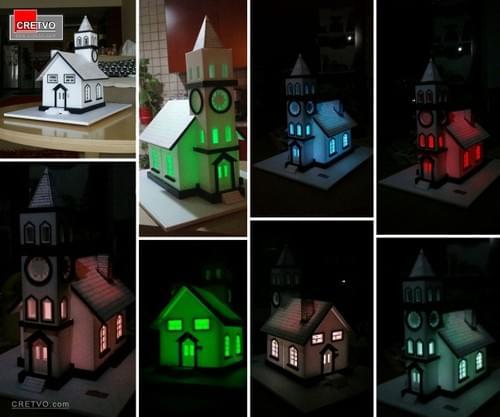 LED 3D Puslespil Hus [hvid]