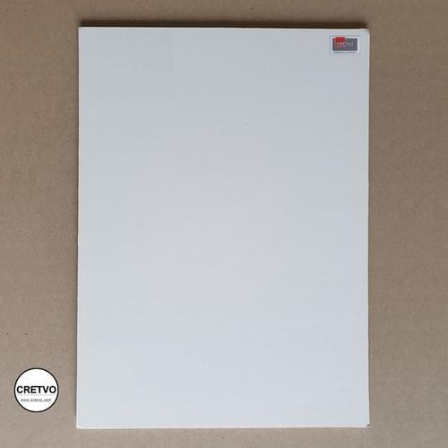 Standard Skumbræt, 430x500 mm, 5 mm tyk, hvid. 1 stykke