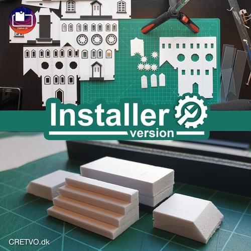 LED 3D Puslespil Hus [installatør]