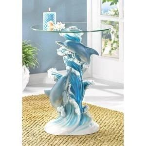 PLAYFUL DOLPHINS ACCENT TABLE 38425