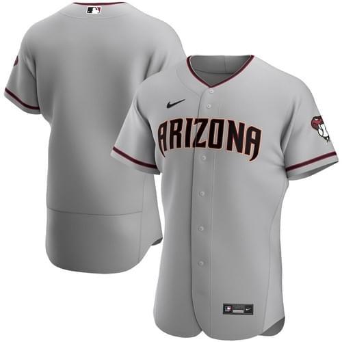 Arizona Diamondbacks Men's Nike Gray Road 2020 Authentic MLB Team Jersey