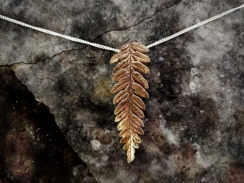 Bracken fern pendant