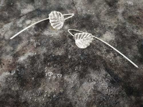 Fagus beech thread earrings