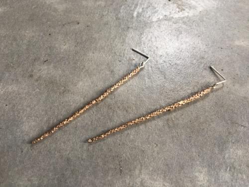 Pencil pine articulated drop studs