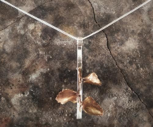 Myrtle beech curled leaf pendant