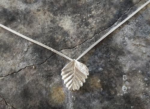 Fagus leaf pendant