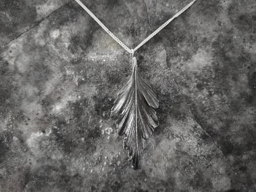 Celery top pine  leaf pendant