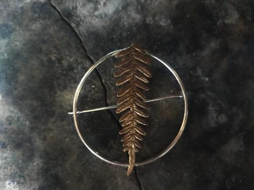 Bracken fern hoop brooch (symmetrical)