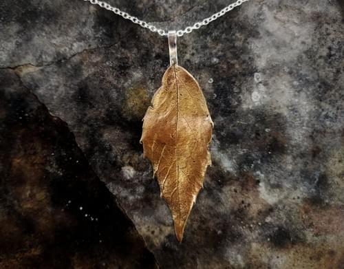 Sassafras leaf pendant