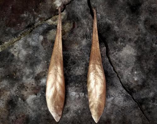 Waratah leaf stud earrings