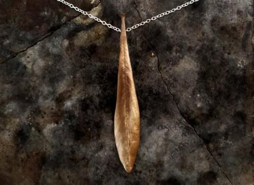 Waratah leaf pendant