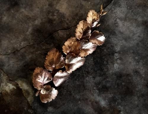 Myrtle twig brooch