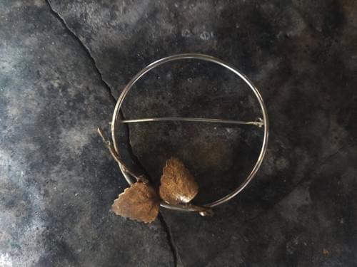 Myrtle beech hoop brooch