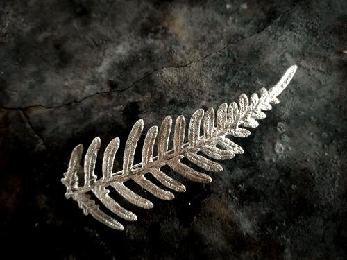Bracken fern brooch - silver